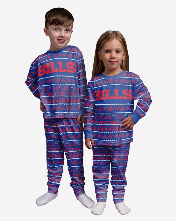 Buffalo Bills Toddler Family Holiday Pajamas FOCO 2T - FOCO.com