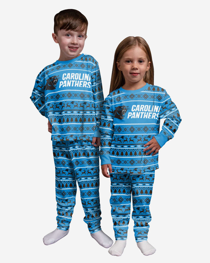 Carolina Panthers Toddler Family Holiday Pajamas FOCO 2T - FOCO.com