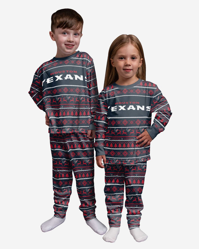 Houston Texans Toddler Family Holiday Pajamas FOCO 2T - FOCO.com