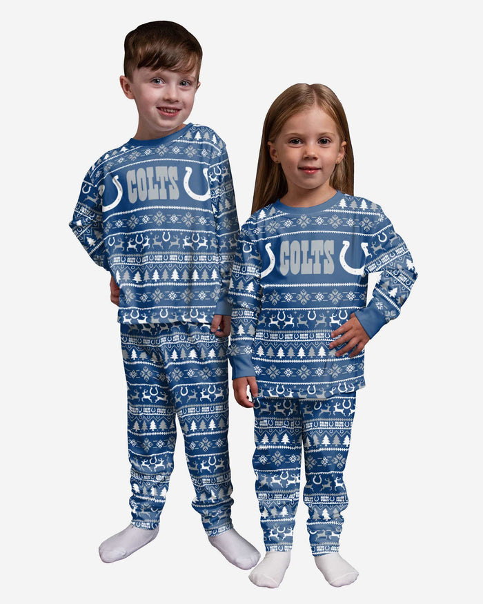 Indianapolis Colts Toddler Family Holiday Pajamas FOCO 2T - FOCO.com