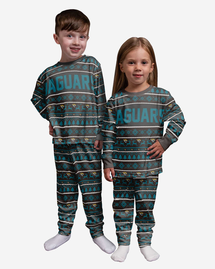 Jacksonville Jaguars Toddler Family Holiday Pajamas FOCO 2T - FOCO.com