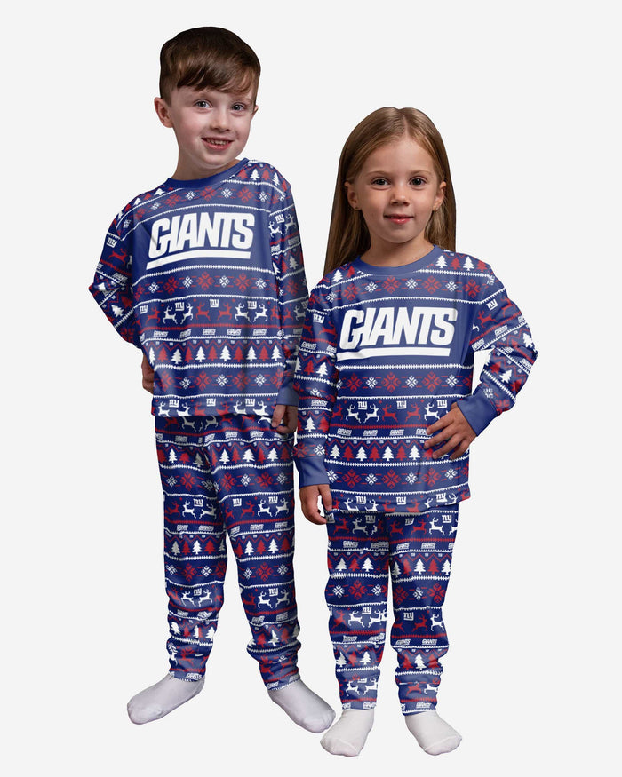 New York Giants Toddler Family Holiday Pajamas FOCO 2T - FOCO.com