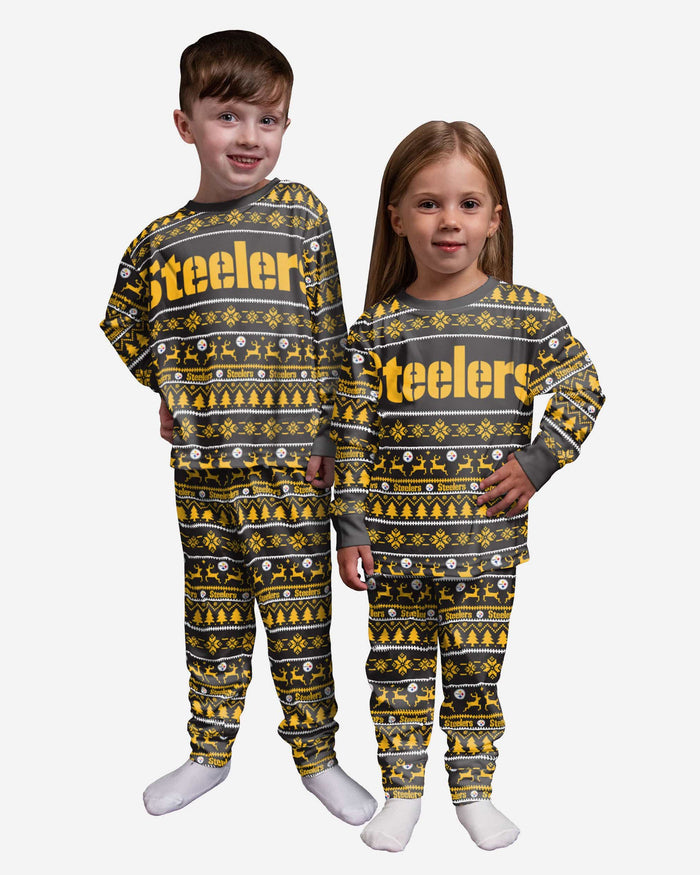 Pittsburgh Steelers Toddler Family Holiday Pajamas FOCO 2T - FOCO.com