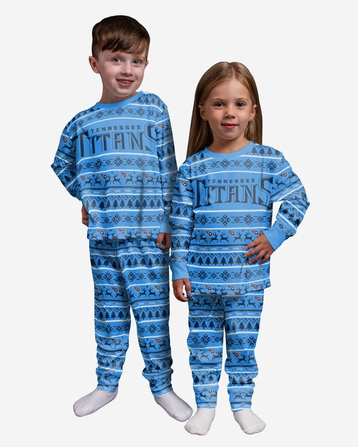 Tennessee Titans Toddler Family Holiday Pajamas FOCO 2T - FOCO.com