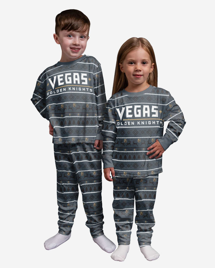 Vegas Golden Knights Toddler Family Holiday Pajamas FOCO 2T - FOCO.com