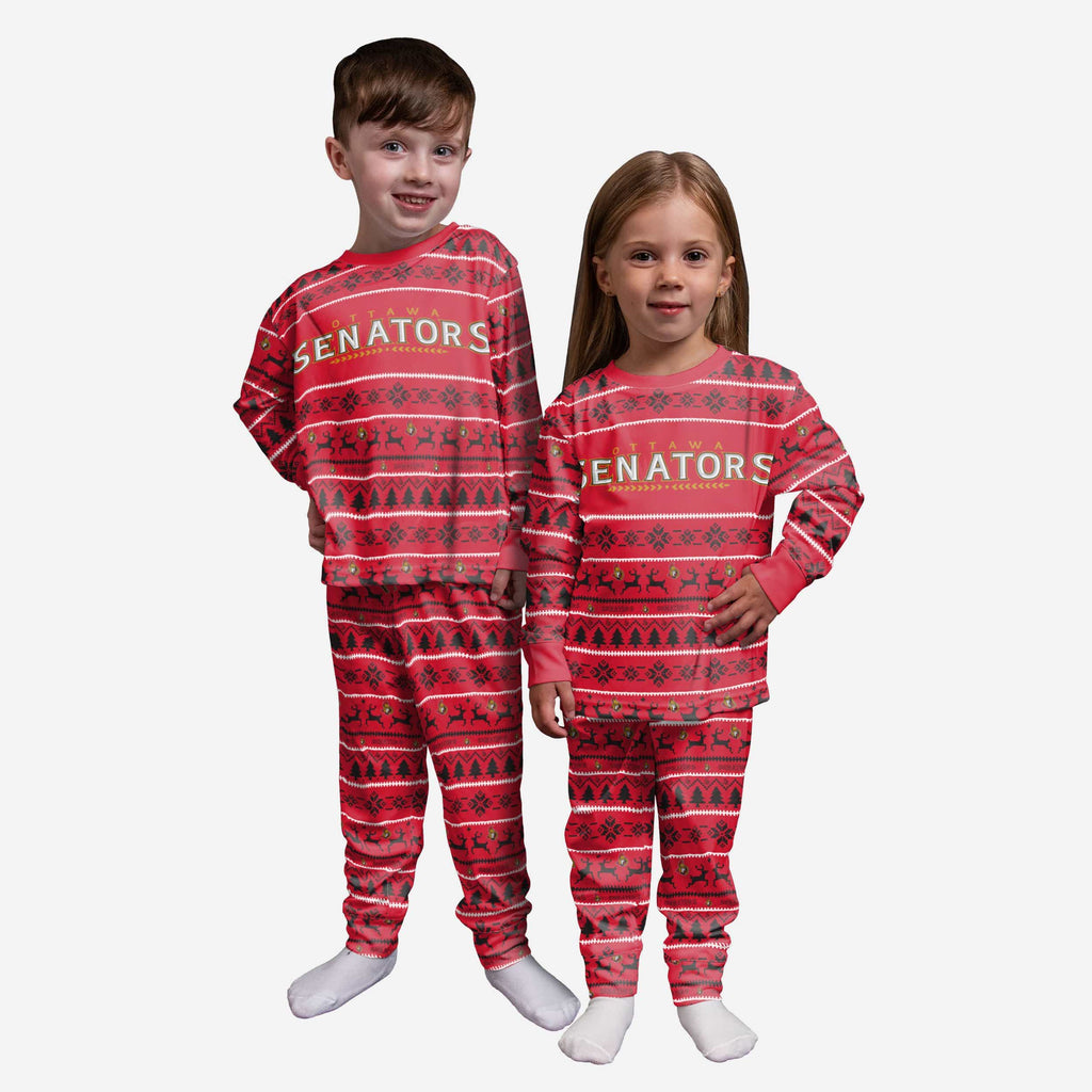 Ottawa Senators Toddler Family Holiday Pajamas FOCO 2T - FOCO.com