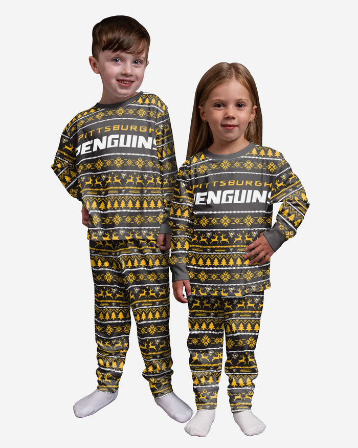 Pittsburgh Penguins Toddler Family Holiday Pajamas FOCO 2T - FOCO.com
