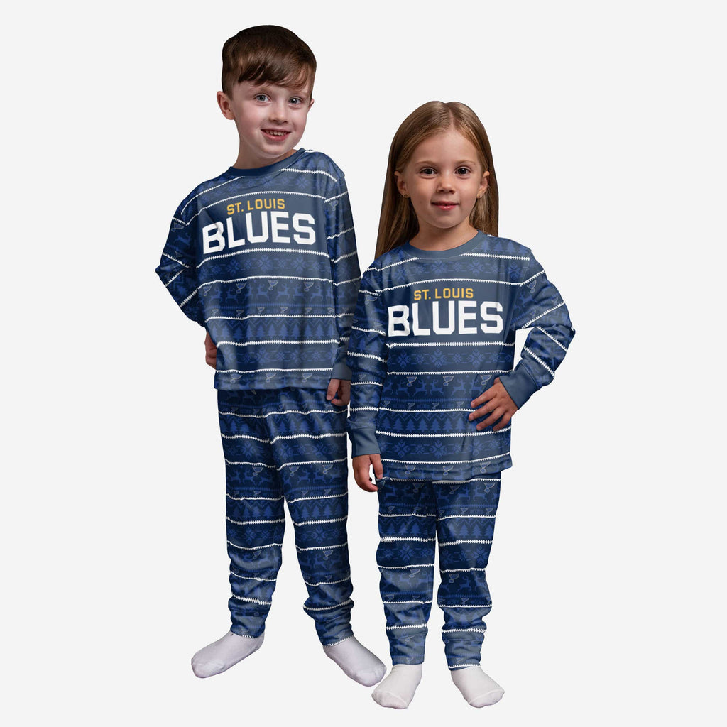 St Louis Blues Toddler Family Holiday Pajamas FOCO 2T - FOCO.com
