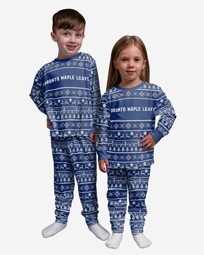 Toronto Maple Leafs Toddler Family Holiday Pajamas FOCO 2T - FOCO.com