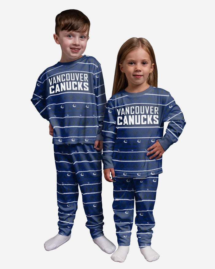 Vancouver Canucks Toddler Family Holiday Pajamas FOCO 2T - FOCO.com