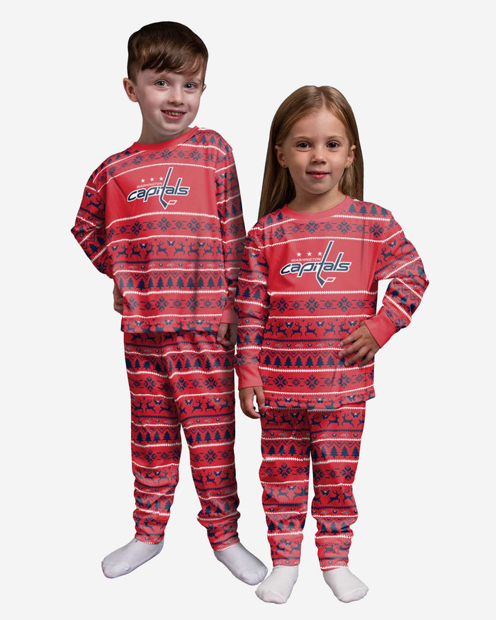 Washington Capitals Toddler Family Holiday Pajamas FOCO 2T - FOCO.com