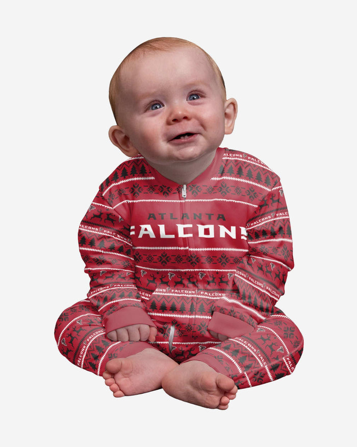 Atlanta Falcons Infant Family Holiday Pajamas FOCO 12 mo - FOCO.com