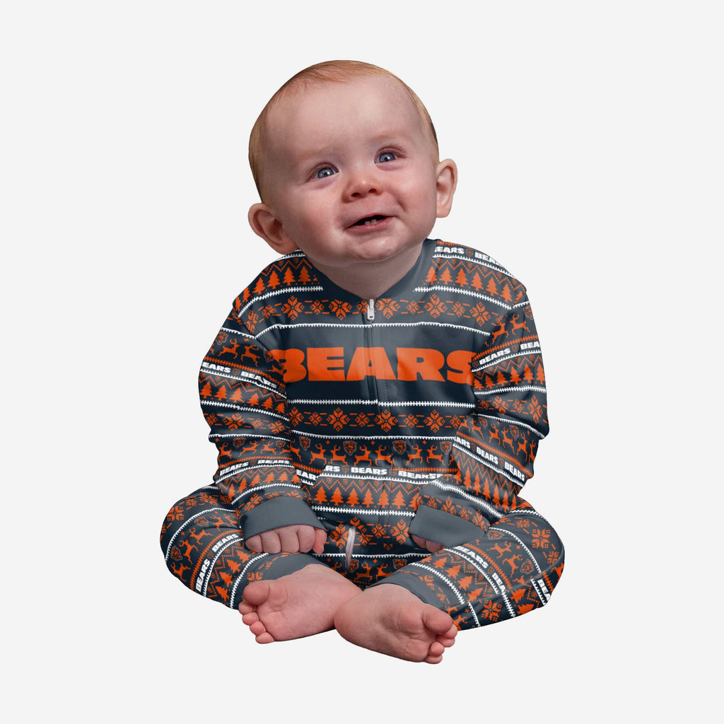 Chicago Bears Infant Family Holiday Pajamas FOCO 12 mo - FOCO.com