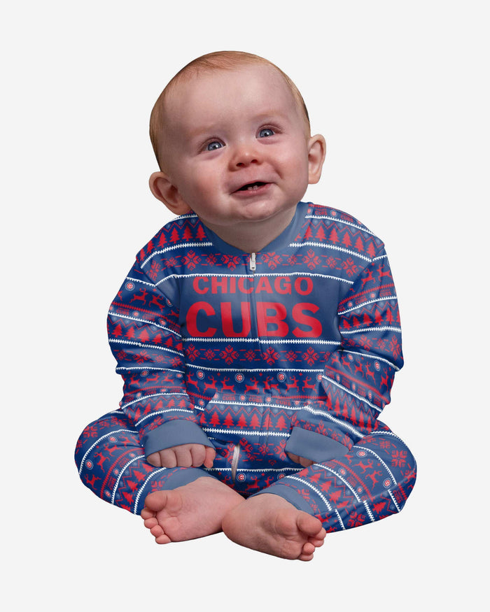 Chicago Cubs Infant Family Holiday Pajamas FOCO 12 mo - FOCO.com