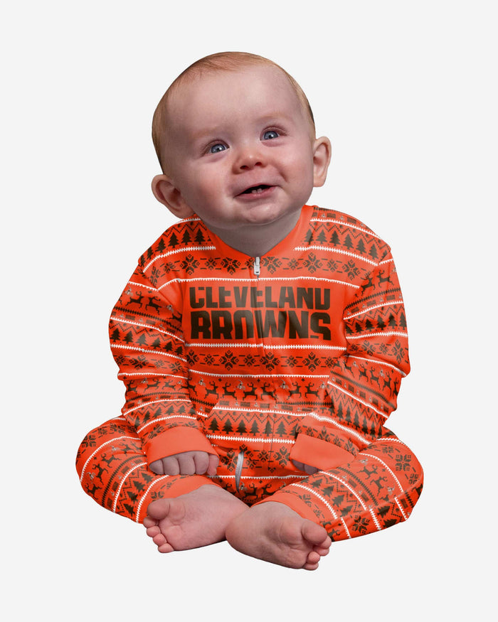 Cleveland Browns Infant Family Holiday Pajamas FOCO 12 mo - FOCO.com