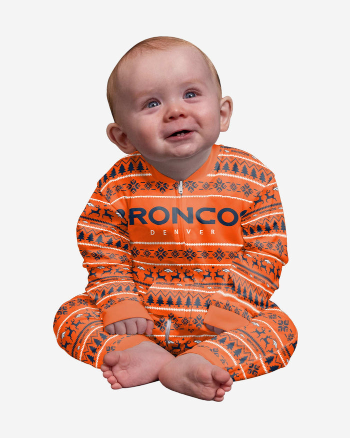 Denver Broncos Infant Family Holiday Pajamas FOCO 12 mo - FOCO.com