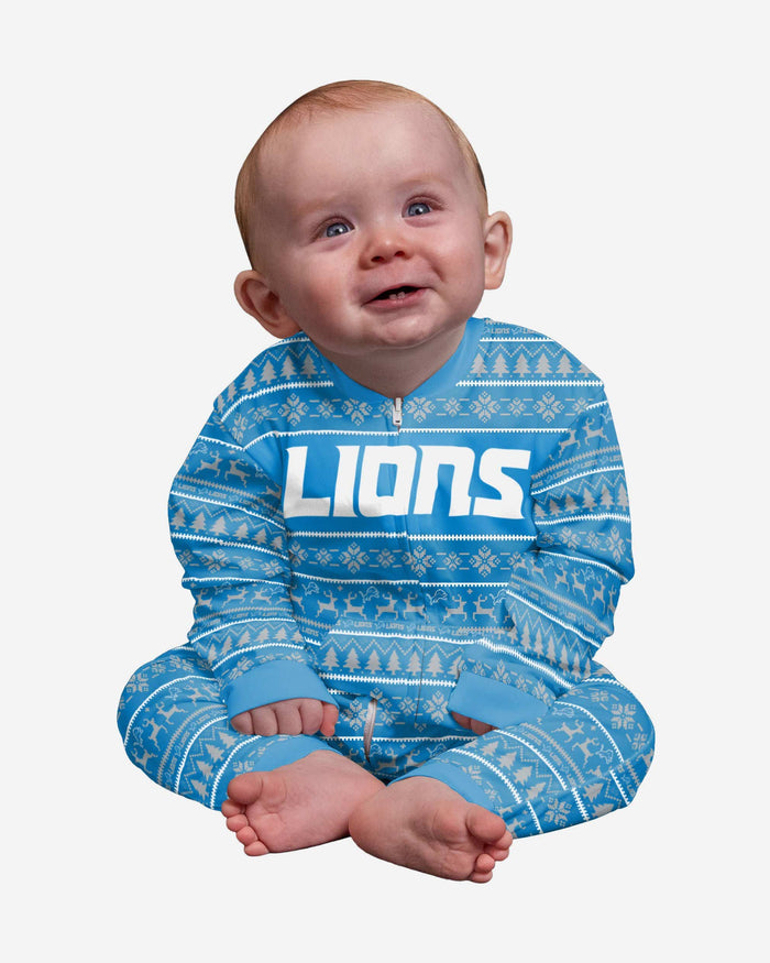 Detroit Lions Infant Family Holiday Pajamas FOCO 12 mo - FOCO.com