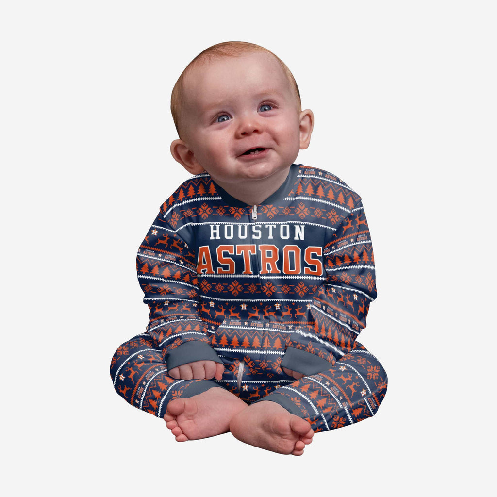 Houston Astros Infant Family Holiday Pajamas FOCO 12 mo - FOCO.com