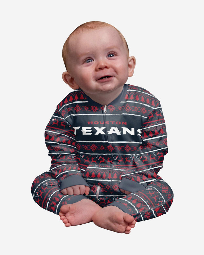Houston Texans Infant Family Holiday Pajamas FOCO 12 mo - FOCO.com