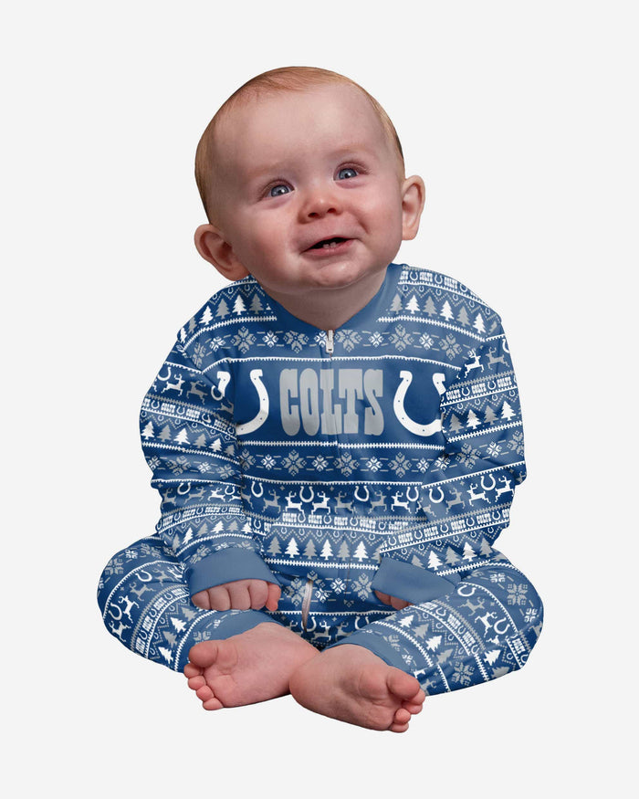 Indianapolis Colts Infant Family Holiday Pajamas FOCO 12 mo - FOCO.com