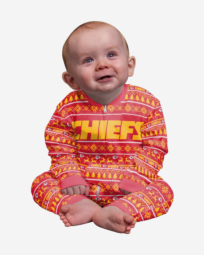 Kansas City Chiefs Infant Family Holiday Pajamas FOCO 12 mo - FOCO.com