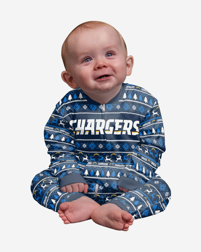 Los Angeles Chargers Infant Family Holiday Pajamas FOCO 12 mo - FOCO.com