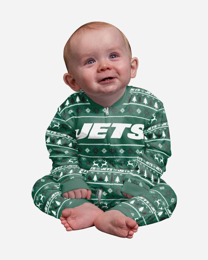 New York Jets Infant Family Holiday Pajamas FOCO 12 mo - FOCO.com
