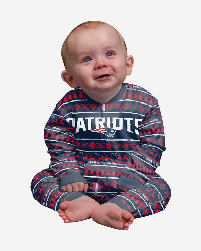 New England Patriots Infant Family Holiday Pajamas FOCO 12 mo - FOCO.com
