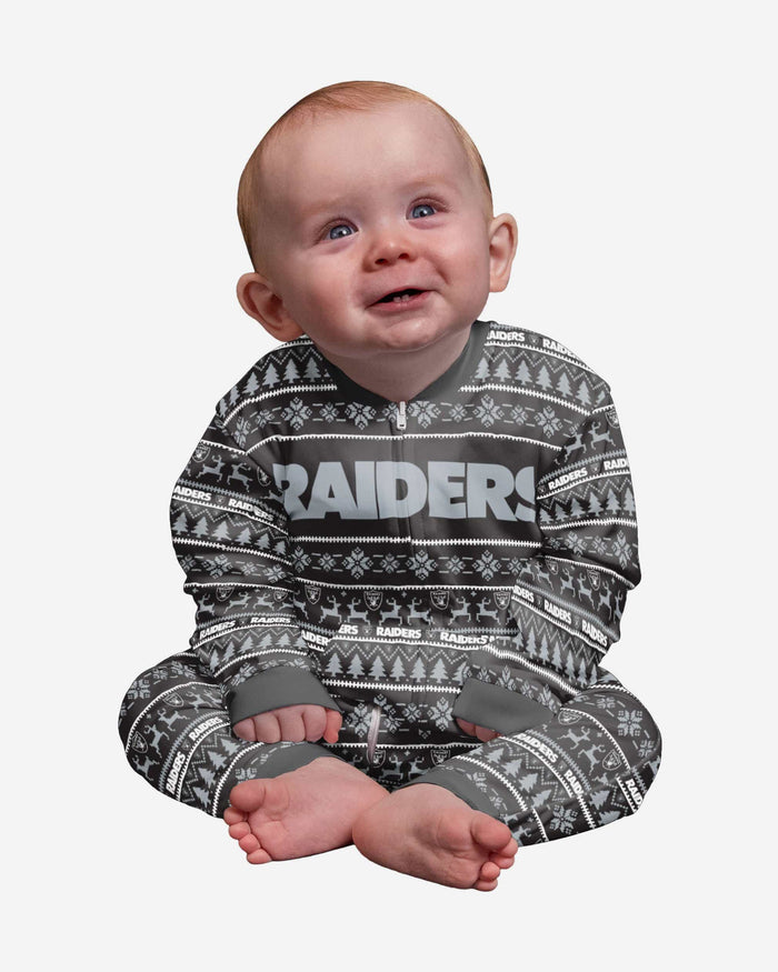 Las Vegas Raiders Infant Family Holiday Pajamas FOCO 12 mo - FOCO.com