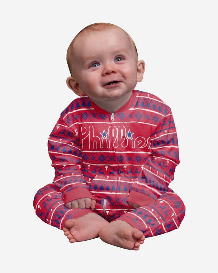 Philadelphia Phillies Infant Family Holiday Pajamas FOCO 12 mo - FOCO.com
