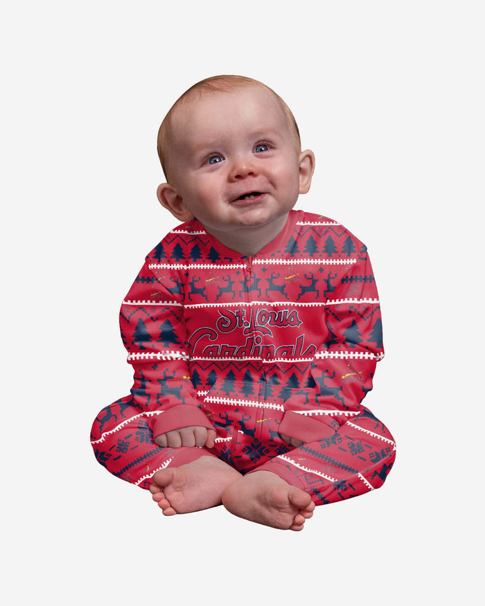 St Louis Cardinals Infant Family Holiday Pajamas FOCO 12 mo - FOCO.com