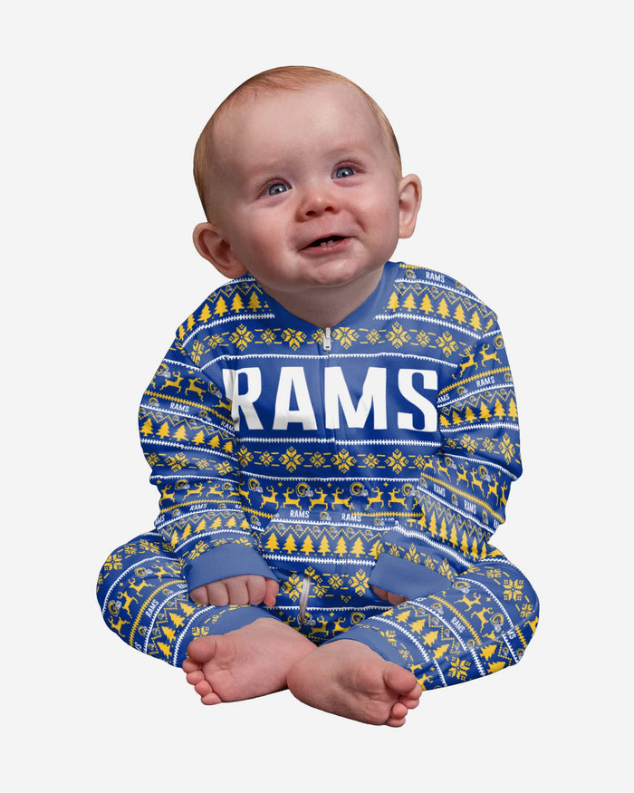 Los Angeles Rams Infant Family Holiday Pajamas FOCO 12 mo - FOCO.com