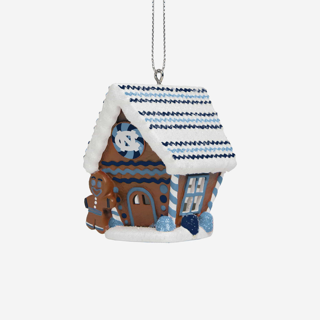 North Carolina Tar Heels Gingerbread House Ornament FOCO - FOCO.com