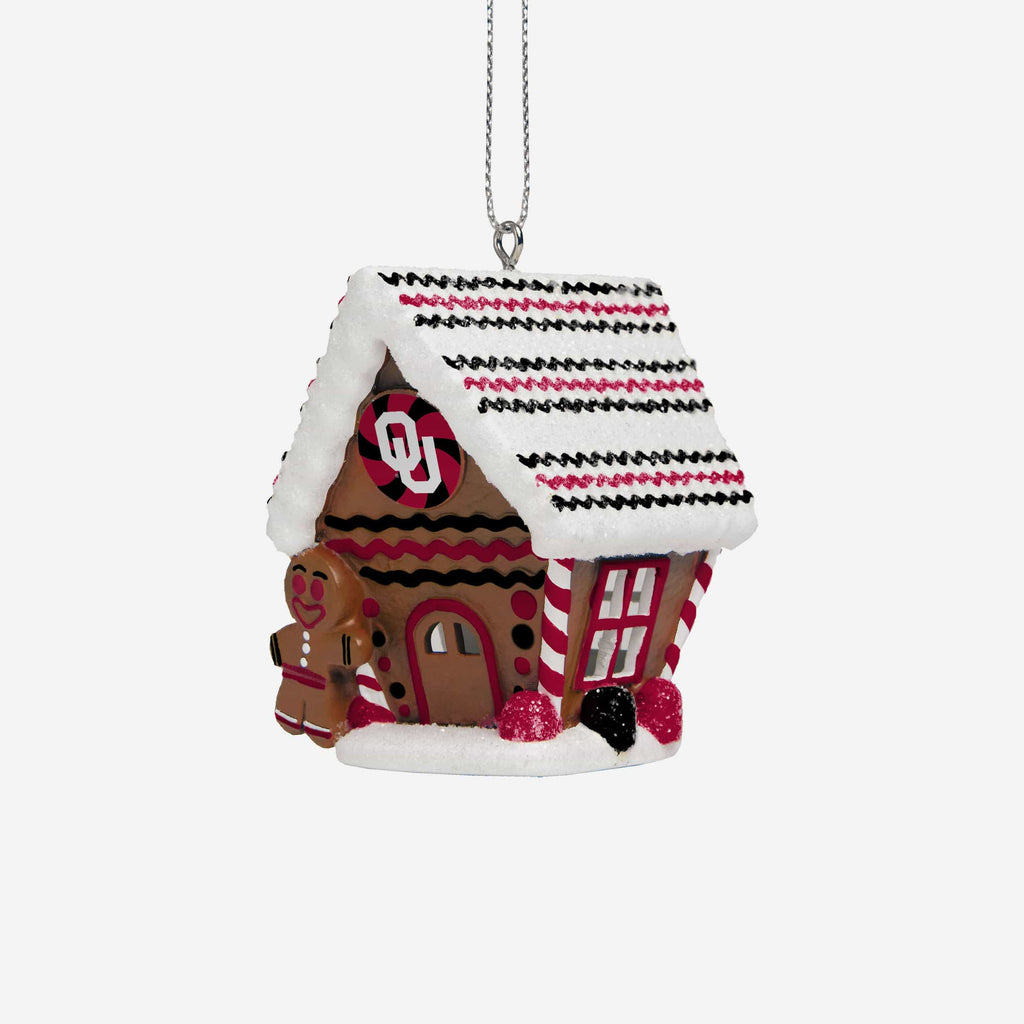 Oklahoma Sooners Gingerbread House Ornament FOCO - FOCO.com