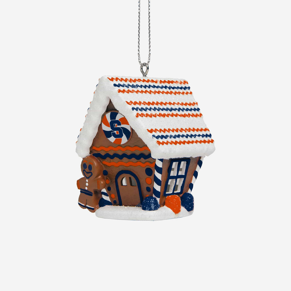 Syracuse Orange Gingerbread House Ornament FOCO - FOCO.com
