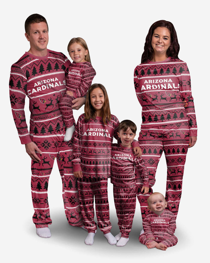 Arizona Cardinals Infant Family Holiday Pajamas FOCO - FOCO.com