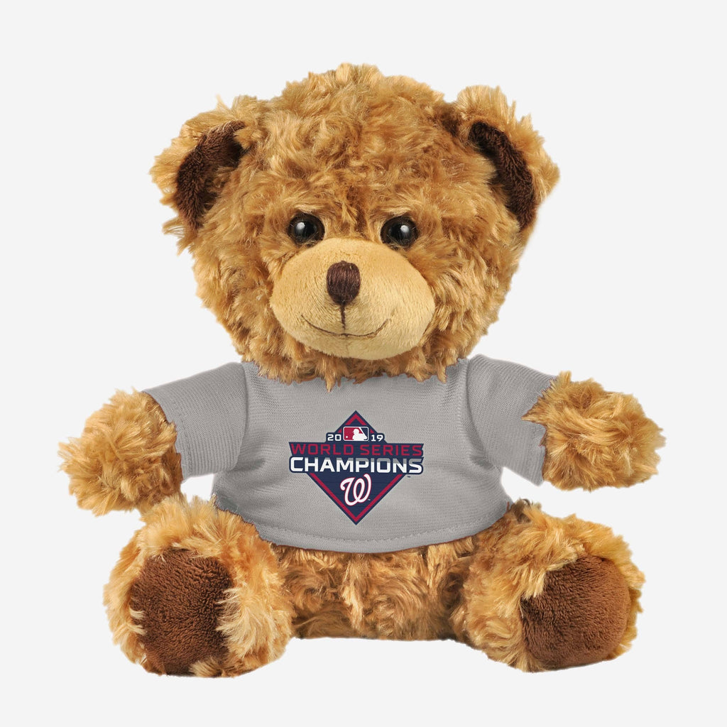 Washington Nationals 2019 World Series Champions Seated Shirt Bear FOCO - FOCO.com