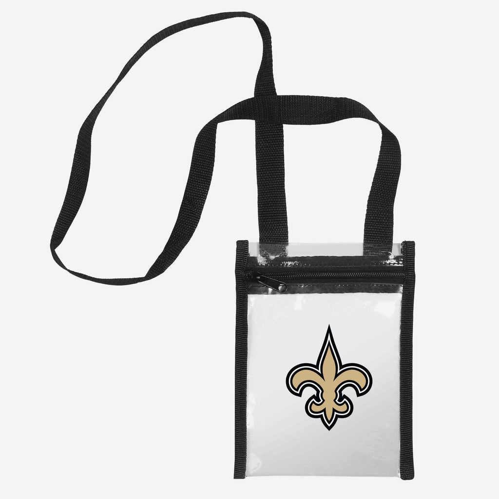 New Orleans Saints Clear Crossbody Tote Bag FOCO - FOCO.com