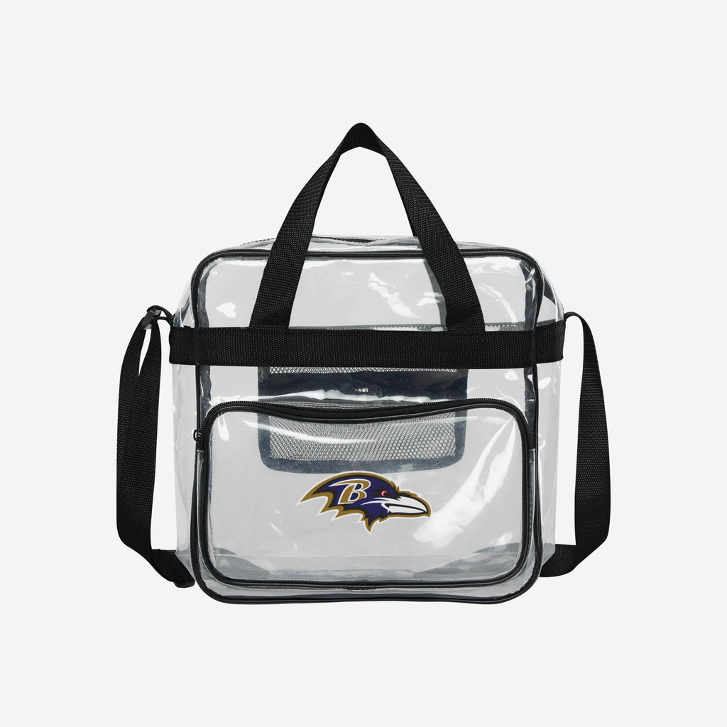 Baltimore Ravens Clear High End Messenger Bag FOCO - FOCO.com