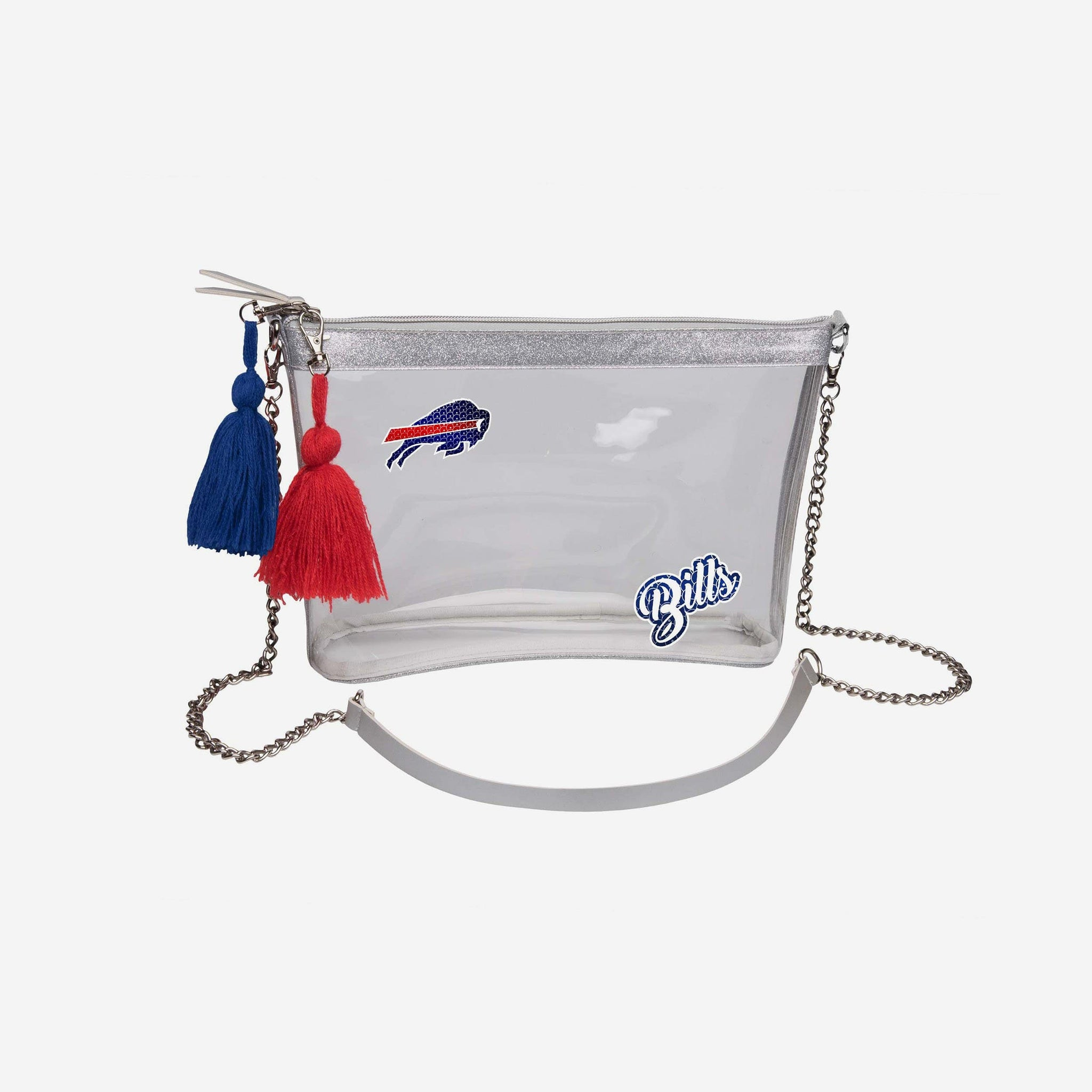 Buffalo Bills Sequin Clear Purse