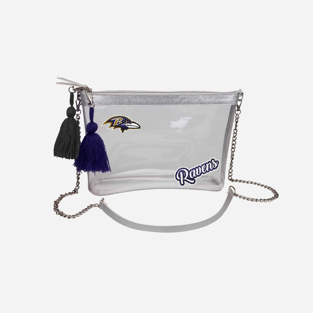 Baltimore Ravens Sequin Clear Purse