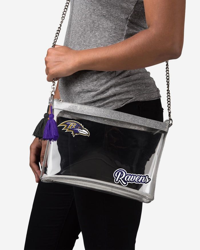 Baltimore Ravens Sequin Clear Purse FOCO - FOCO.com