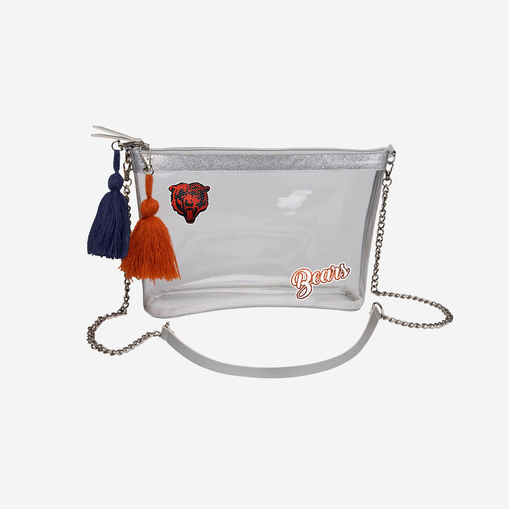 Chicago Bears Sequin Clear Purse
