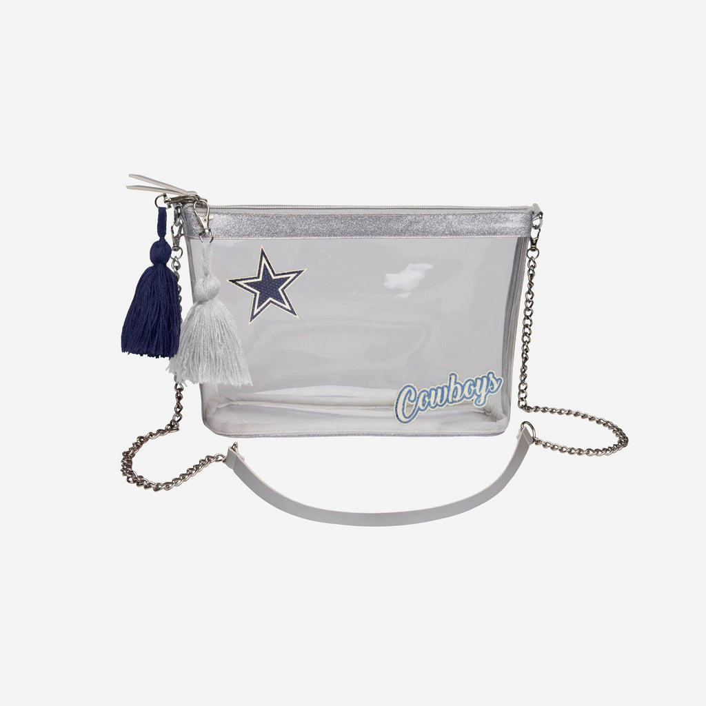 Dallas Cowboys Sequin Clear Purse FOCO - FOCO.com