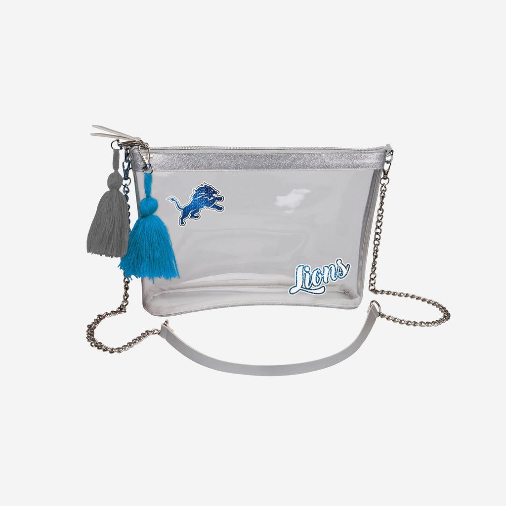 Detroit Lions Sequin Clear Purse FOCO - FOCO.com