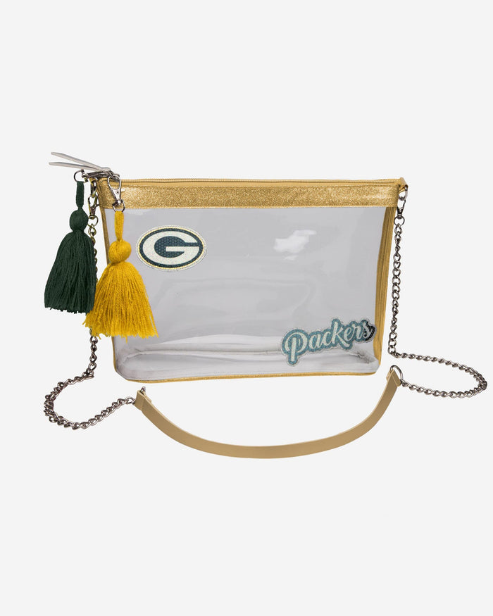 Green Bay Packers Sequin Clear Purse FOCO - FOCO.com