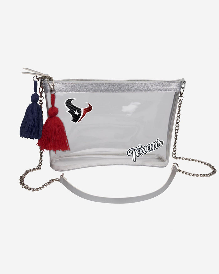Houston Texans Sequin Clear Purse FOCO - FOCO.com