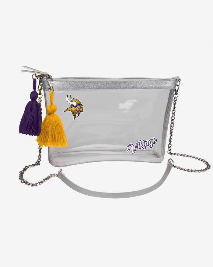Minnesota Vikings Sequin Clear Purse FOCO - FOCO.com