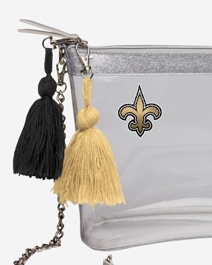 New Orleans Saints Sequin Clear Purse FOCO - FOCO.com