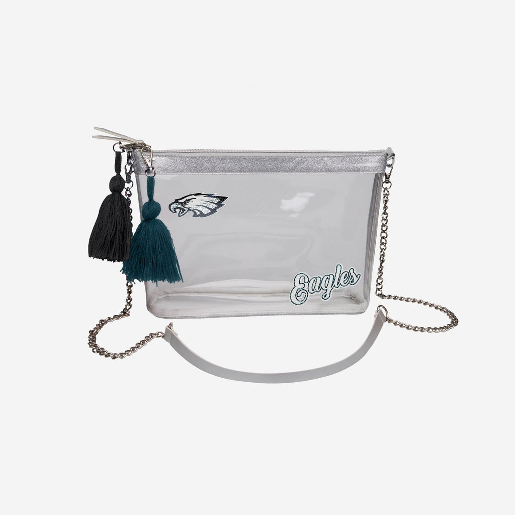 Philadelphia Eagles Sequin Clear Purse FOCO - FOCO.com